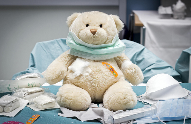 Teddy bear with medical condition